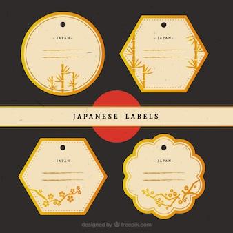 Pegatinas japonesas doradas elegantes