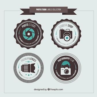 Pegatinas redondas de estudio de fotos