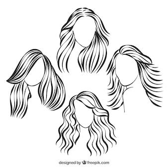Peinados esbozados