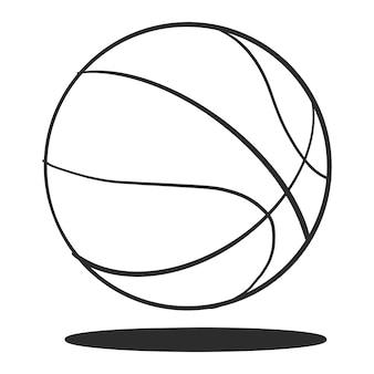 Pelota de baloncesto dibujado a mano