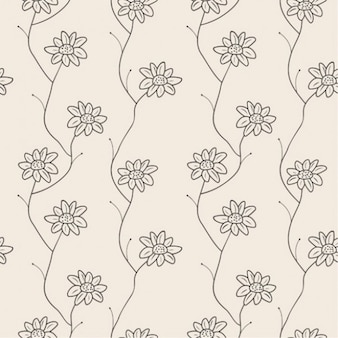 Pequeñas flores sin patrón fresco
