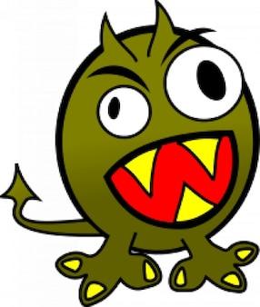 pequeño monstruo furioso divertido