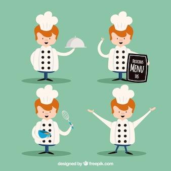 Personaje de chef en diseño plano