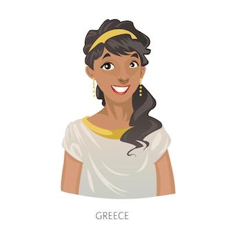 Personaje de mujer griega