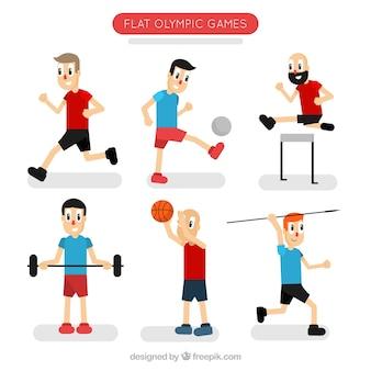 Personajes animados haciendo deporte