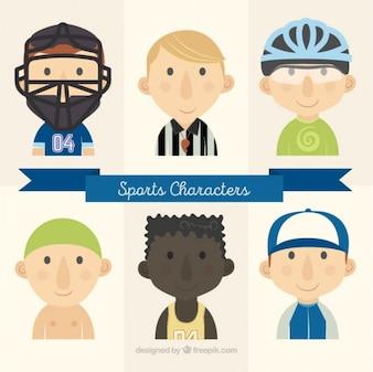 Personajes de deportes con un árbitro