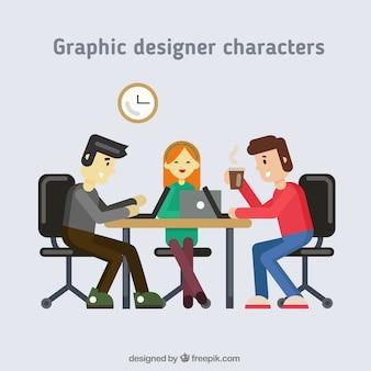 Personajes de diseño gráfico
