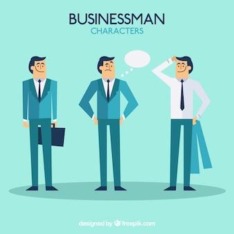 Personajes de hombre de negocios