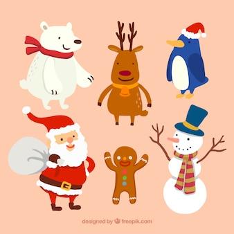 personajes de Navidad de lujo