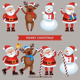 Personajes divertidos de navidad