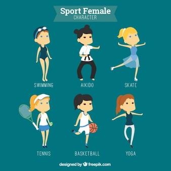 Personajes femeninos deportivos