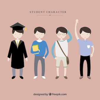 Personajes masculinos de estudiantes