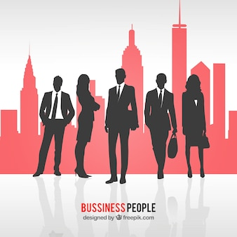 Personas de negocios en una ciudad