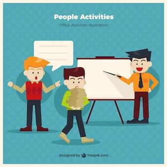 Personas haciendo actividades