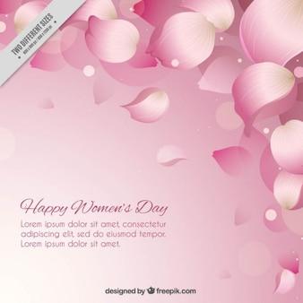 Pétalos de color rosa de fondo día de la mujer