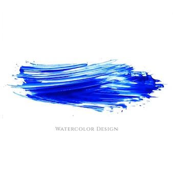 Pincelada abstracta azul de acuarela