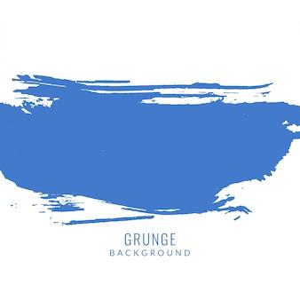 Pincelada grunge azul sobre fondo blanco