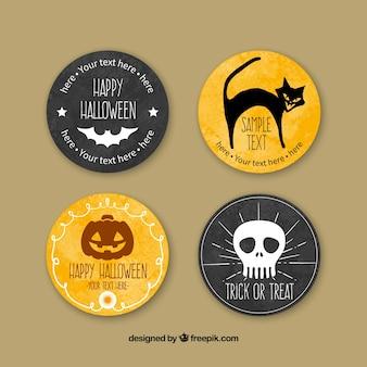 Pintadas a mano insignias de halloween