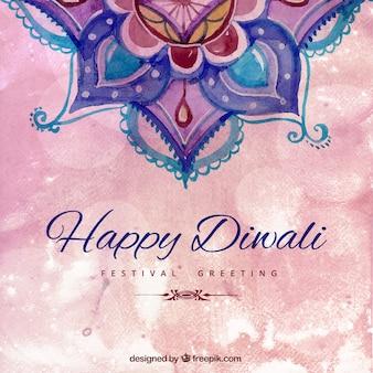 Pintado a mano fondo de feliz Diwali