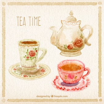 Pintado a mano hora del té
