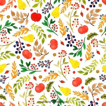 Pintado a mano patrón floral en estilo colorido