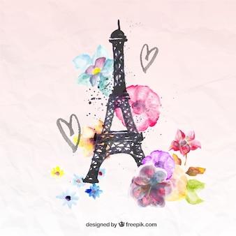 Pintados a mano, la torre Eiffel