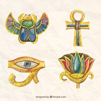 Pintados a mano adornos egipcio