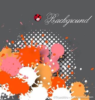 Pintura de color gotas vector