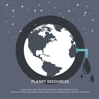 Planeta recursos concepto