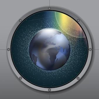 Planeta visto desde una nave espacial