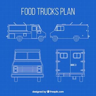 Plano de camión de comida