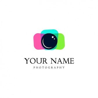 Plantila de logo de cámara