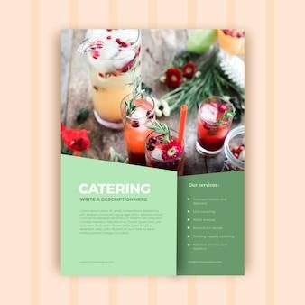 Plantilla abstracta de folleto de negocios para empresa de catering