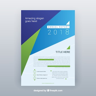 Plantilla abstracta de reportaje anual de 2018