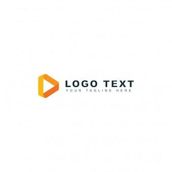 Plantilla abstracto de logotipo de medios