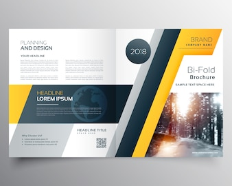 Plantilla amarilla de folleto de negocios