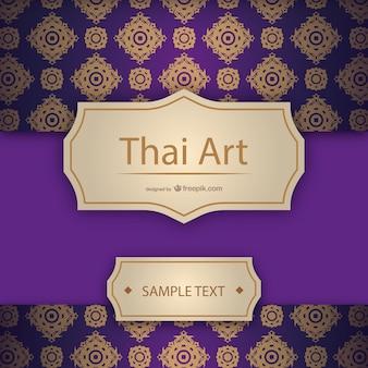 Plantilla artística estilo tailandés