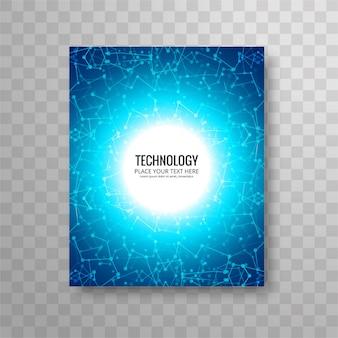 Plantilla circular azul de flyer de negocios