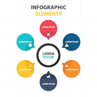 Plantilla circular infográfica de negocios