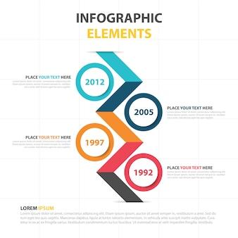 Plantilla colorida corporativa infográfica de negocios