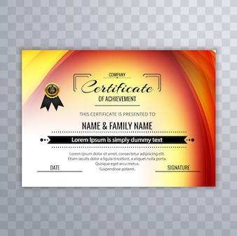 Plantilla colorida de certificado de logro