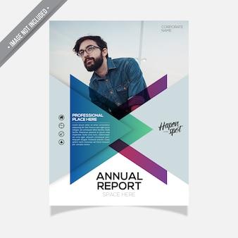 Plantilla corporativa de informe anual de cobertura