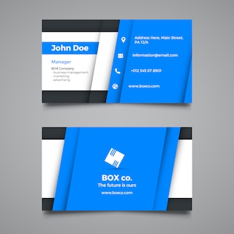 Plantilla creativa azul corporativa de tarjeta de visita