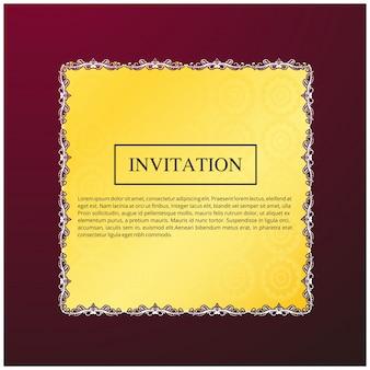 Plantilla creativa de invitación de boda con espacio para texto