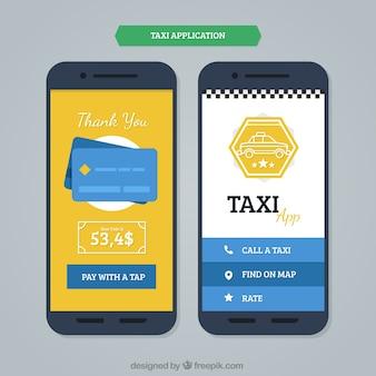 Plantilla de aplicación móvil para taxis