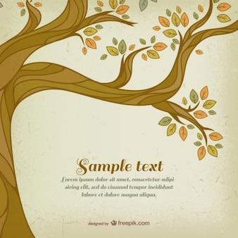 Plantilla de árbol de otoño