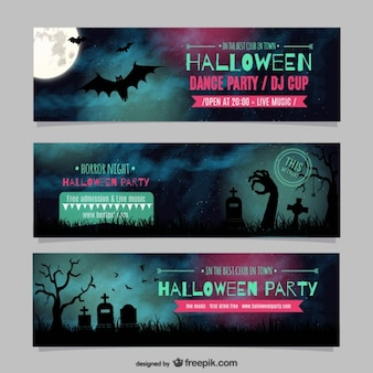 Plantilla de banners de Halloween