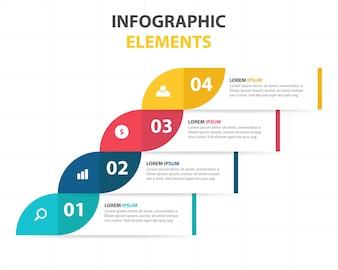 Plantilla de banners infográficos de negocios