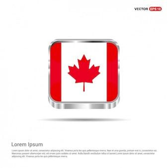 Plantilla de botón bandera canadiense
