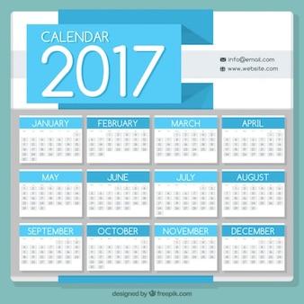 Plantilla de calendario 2017